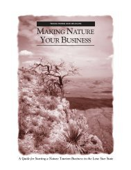 Making Nature Your Business - Texas Parks & Wildlife Department