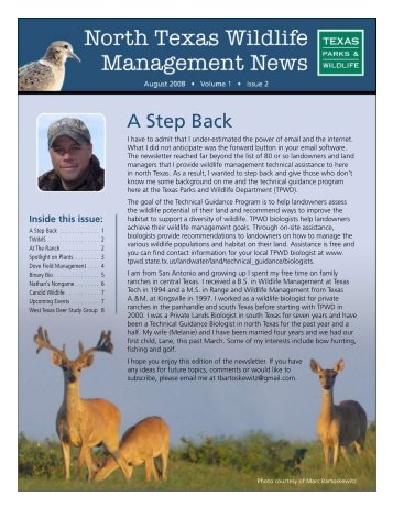 August 2008 - Texas Parks & Wildlife Department
