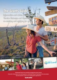 The Grants Guide - Tourism Queensland
