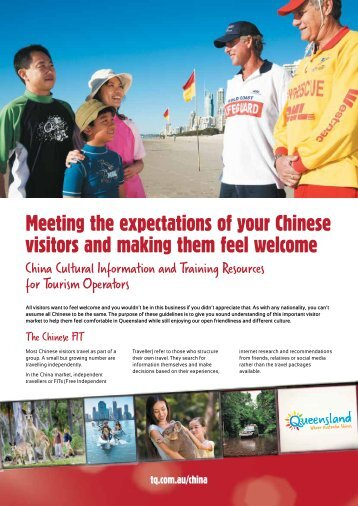 Meeting the expectations of your Chinese visitors and making them ...