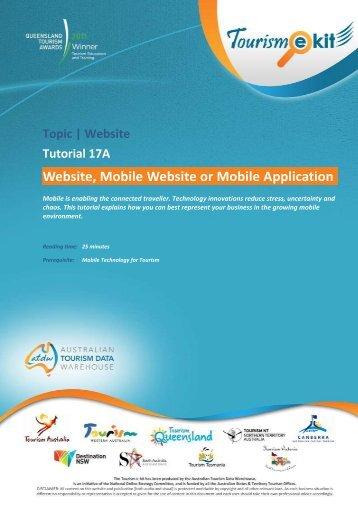 Website, Mobile Website or Mobile Application