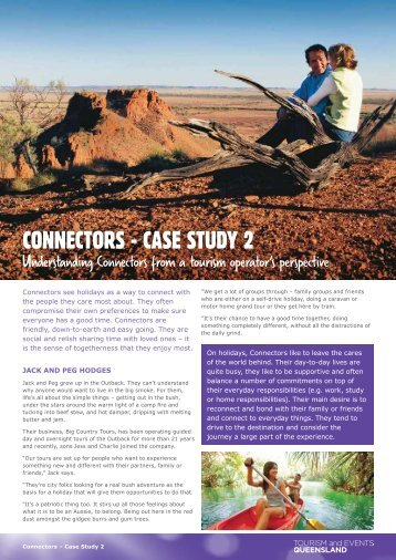 CONNECTORS - CASE STUDY 2 - Tourism Queensland