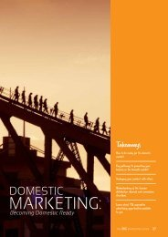 Section 3: Domestic Marketing - Tourism Queensland