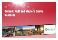 Outback Research Presentation - Tourism Queensland