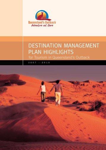 destination management plan highlights - Tourism Queensland