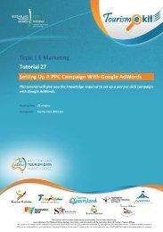 Topic   E-Marketing Tutorial 27 - Tourism Queensland