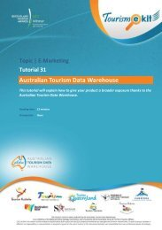 1. What is the Australian Tourism Data Warehouse