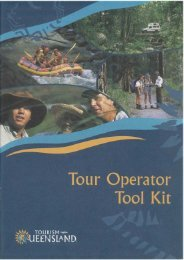 Tour Operator Tool Kit - Tourism Queensland