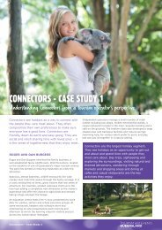 CONNECTORS - CASE STUDY 1 - Tourism Queensland