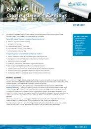 Building Queensland's Regions - Tourism Queensland