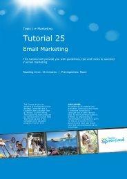 Tutorial 25 – Email Marketing – V7