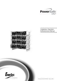 Powersafe VM (Warnings - Enersys - EMEA