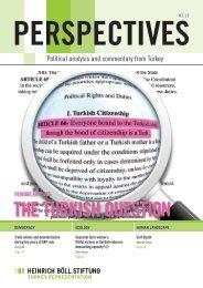 THE TURKISH QUESTION - Heinrich Böll Stiftung Derneği