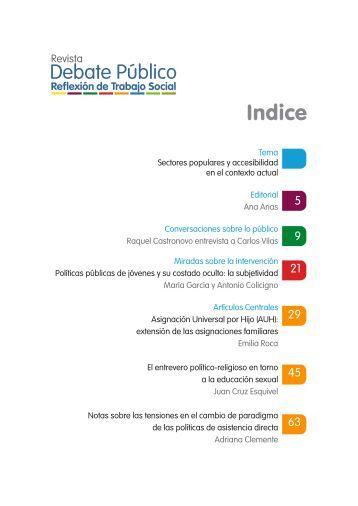 Indice - Carrera de Trabajo Social