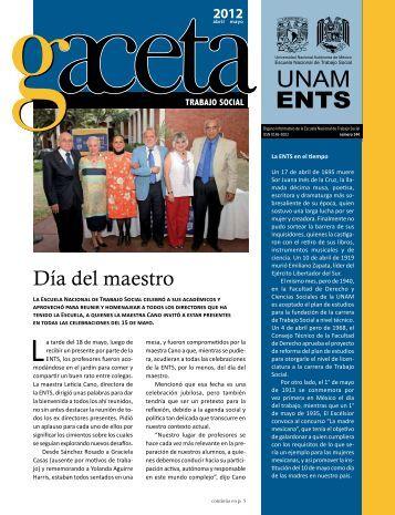 Gaceta 144 - Escuela Nacional de Trabajo Social - UNAM