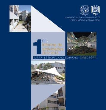 1er Infomre extenso - Escuela Nacional de Trabajo Social - UNAM ...