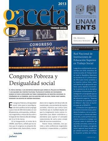 Gaceta 148 - Escuela Nacional de Trabajo Social - UNAM