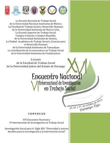 xvi encuentro nacional y vi internacional de investigación en trabajo ...