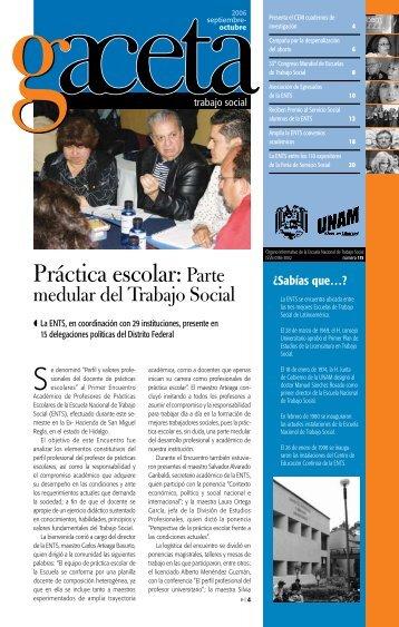 Práctica escolar: Parte - Escuela Nacional de Trabajo Social - UNAM