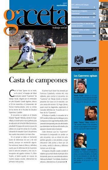 Casta de campeones - Escuela Nacional de Trabajo Social - UNAM