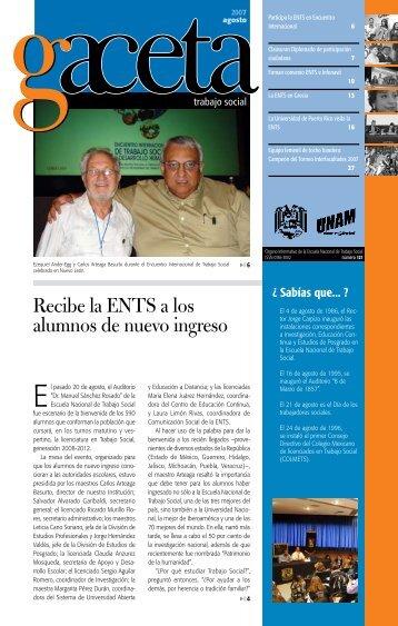 Recibe la ENTS a los alumnos de nuevo ingreso - Escuela Nacional ...