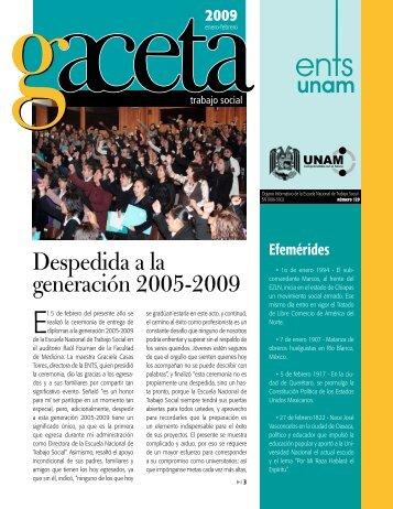 Despedida a la generación 2005-2009 - Escuela Nacional de ...