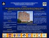 3er. seminario nacional de investigación en trabajo social - Escuela ...