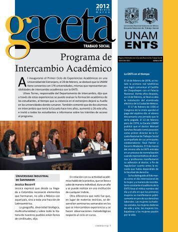 Gaceta 143 - Escuela Nacional de Trabajo Social - UNAM