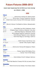 Future Fixtures 2008–2012 1 - Track & Field News