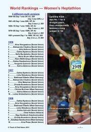 World Rankings — Women's Heptathlon - Track & Field News