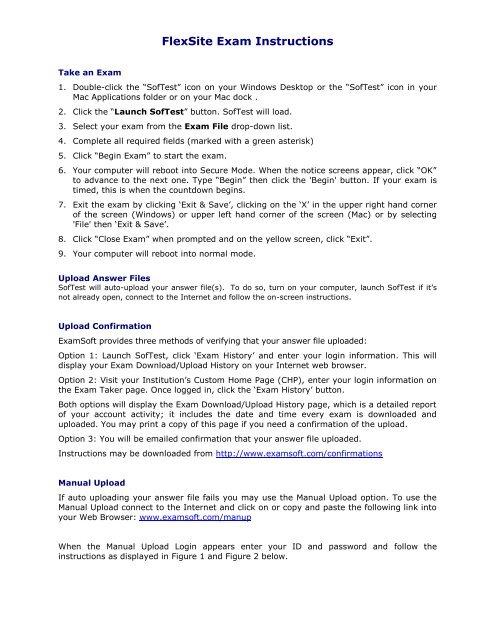 Download & Upload SofTest Exam File Instructions - Examsoft
