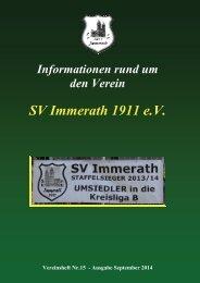 Heft 15 SV Immerath