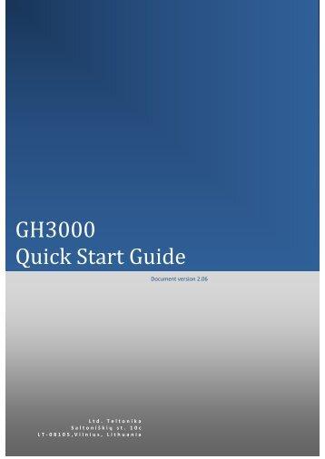 GH3000 Quick Start Guide - Teltonika