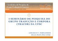 (Microsoft PowerPoint - I Semin\341rio de Pesquisa do ... - UFSC
