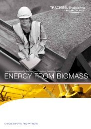 ENERGY FROM BIOMASS - Tractebel Engineering