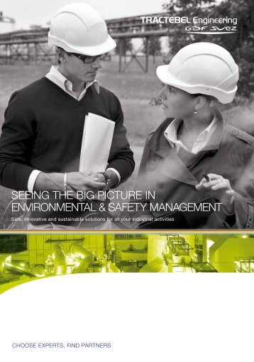 SEEinG ThE biG PiCTUrE in EnVirOnMEnTAl & SAFETy ...