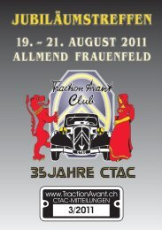 Feste & Feiern - Citroen Traction Avant Club Switzerland