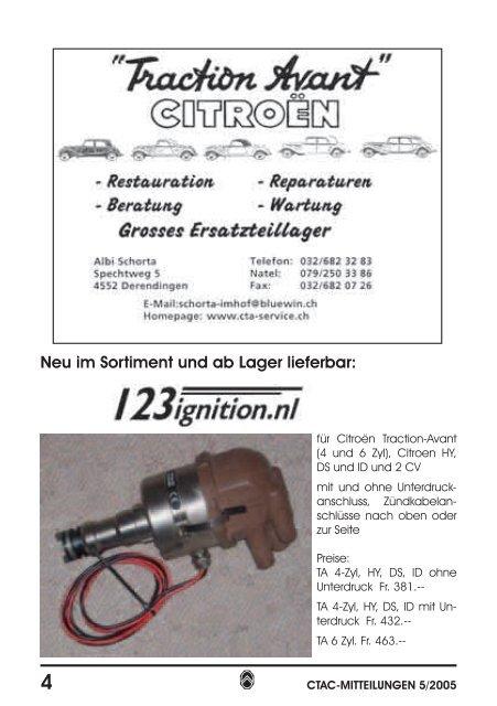 Inhalt.indd - Citroen Traction Avant Club Switzerland