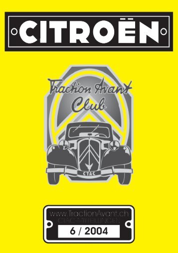 Untitled - Citroen Traction Avant Club Switzerland