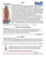 EZEKIEL INTRODUCTION *It is advisable first to read the ... - Tracts