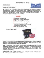 CHRISTIAN ACROSTIC POEMS 4 U INTRODUCTION ... - Tracts.com