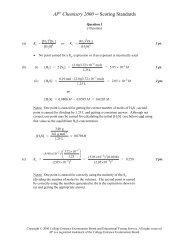 2000 AP Chemistry Scoring Guidelines