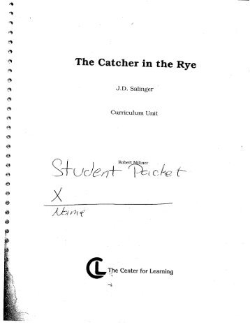 studying extract from chapter 24 the catcher in the rye essay Prepare for class discussion, study for a test, or find great ideas for essays with these study questions for 'the catcher in the rye catcher in the rye chapter study questions and answers.