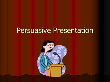 Persuasive Presentation
