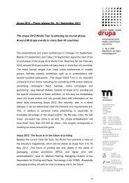 drupa 2012 – Press release No. 16 / September 2011 The drupa ...