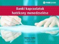Kormos Csaba, FHB - Trade magazin