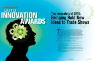 the 2010 Innovation Awards in PDF Format - Trade Show Executive