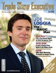 the April 2009 Issue in PDF Format - Trade Show Executive