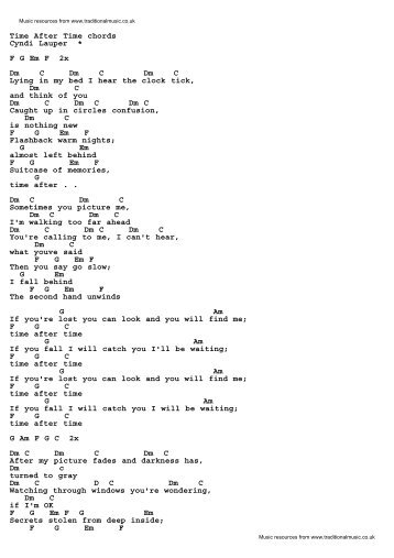 True Colors Cyndi Lauper Lyrics Chords Traditional Music Library