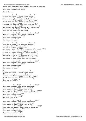 Tonight i fell in love lyrics